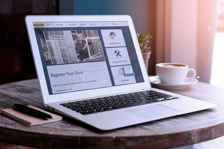 Online Storm Door Registration