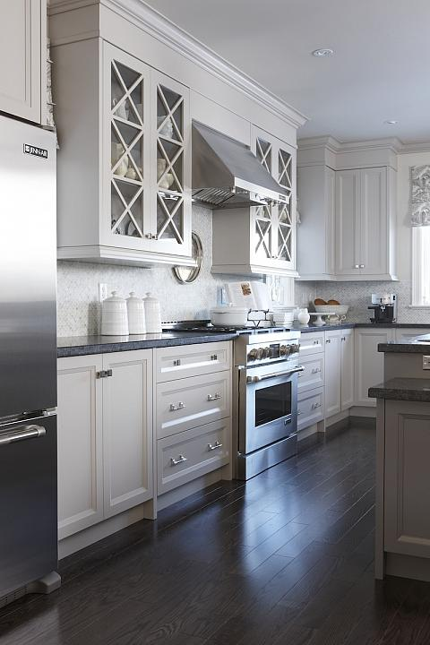 5 Places Decorative Glass Can Upgrade Your Home--Cabinet Doors with Mouldings.jpg