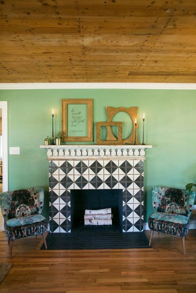 White Wash Brick Fireplace Joanna Gaines