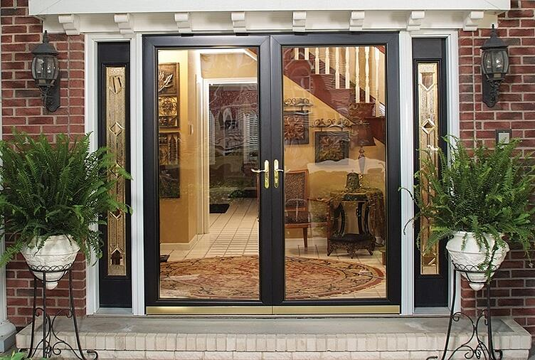 The easy guide to measuring french door style storm doors for Double storm doors for french doors