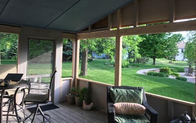 Enclosed porch before installing Scenix Porch Windows