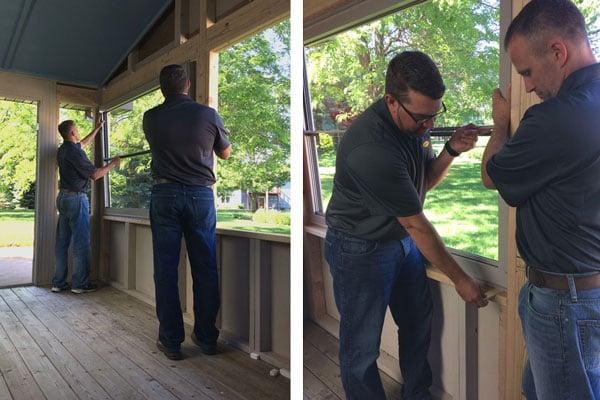 Install your scenix porch windows for Scenix porch windows