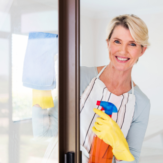 Clean your Storm Door