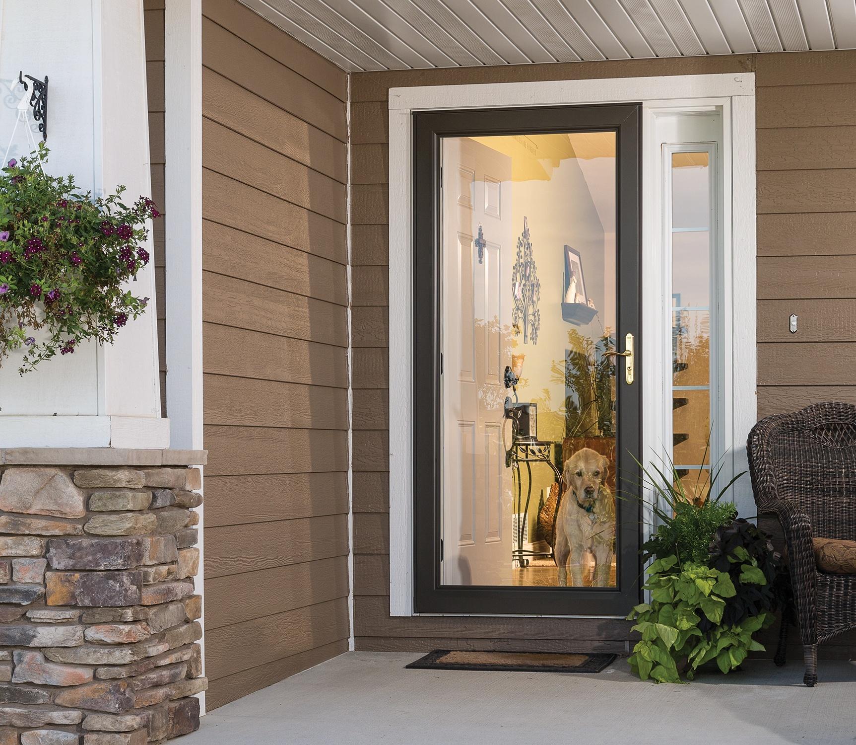 Full glass storm door