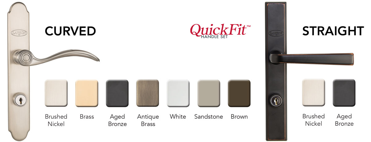 QuickFit Handle Finishes for storm doors