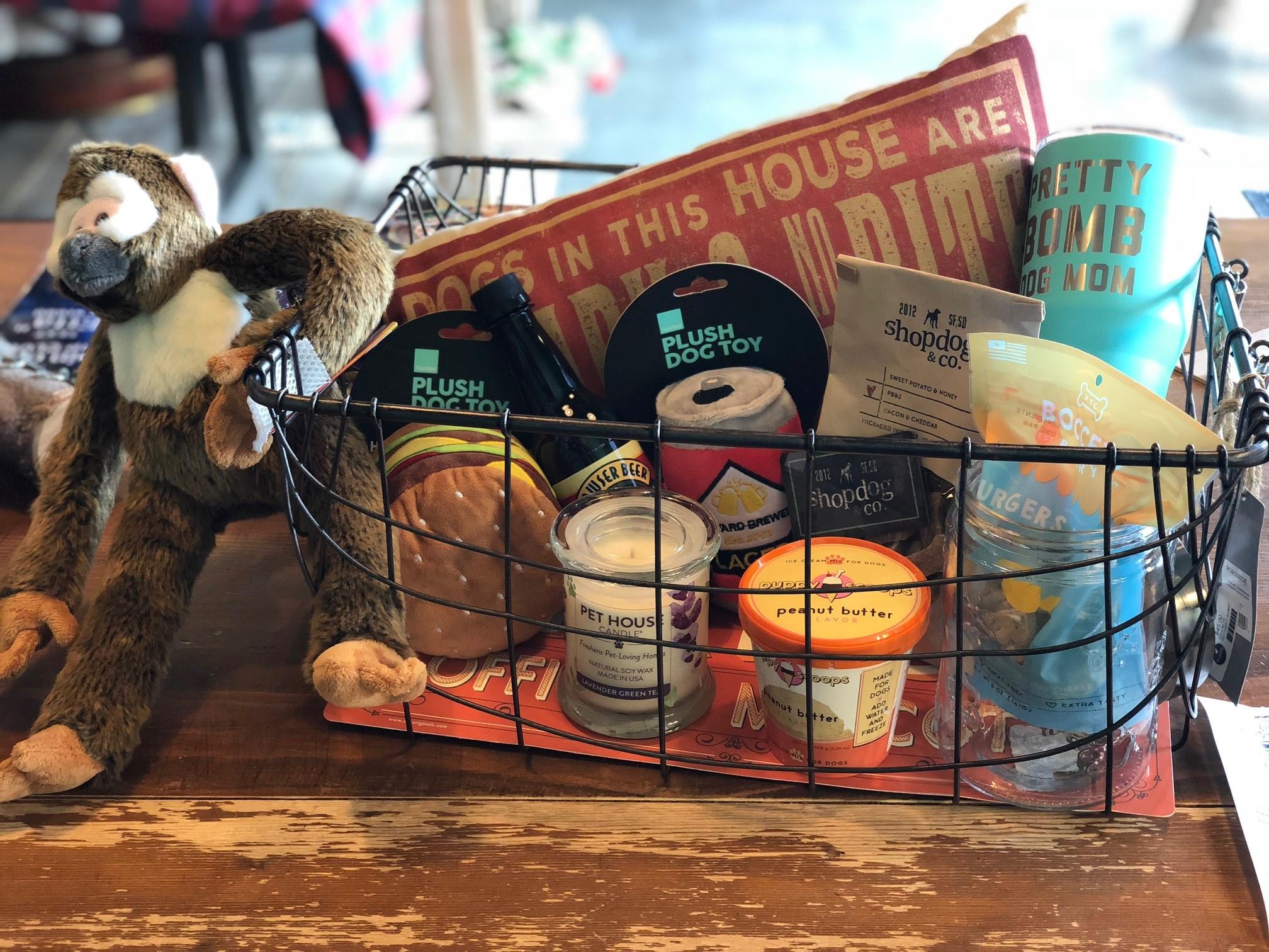 Shop Dog Pet Gift Basket Prize