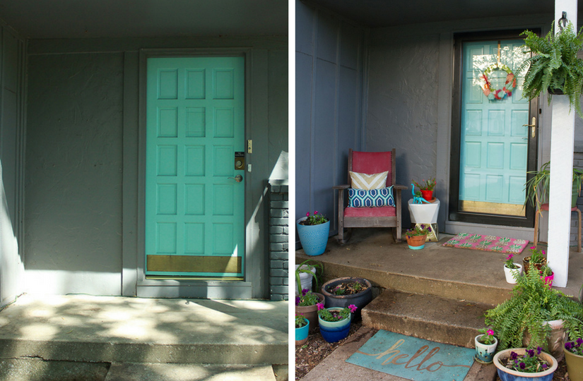 Oh So Lovely Blog's Spring Front Porch Makeover With Larson Storm Doors