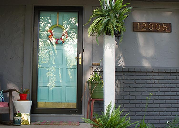 Modern House Numbers Tutorial Complements Larson Storm Door